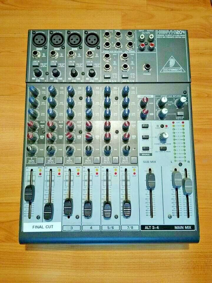 GREAT BEHRINGER XENYX1204 MIXER MIXING CONSOLE PREMIUM 12-INPUT 2 2 MIC PREAMPS