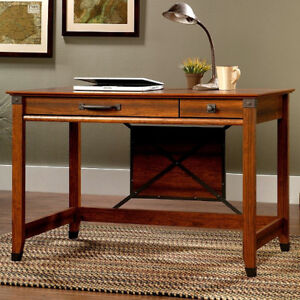 Craftsman-Mission-Shaker-Writing-Desk-w-Wrought-Iron-New