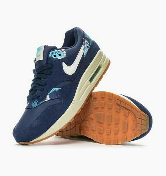 Damenschuhe Nike Damenschuhe Print Air Max 1 Print Damenschuhe Floral Trainers 5f4edb