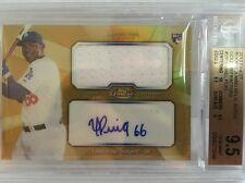 Yasiel Puig 26/50 2013 Topps Finest Auto Autograph Gold Refractor BGS 9.5/10!