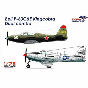 Dora-Wings-7201D-Bell-P-63C-amp-E-Kingcobra-Dual-combo-2-in-1-1-72-Plastic-Model-Kit