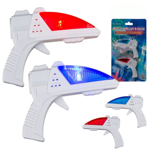 Mini Smallest Laser Lazer Guns Mini LED Sound Effects Toys Stocking Filler Gift