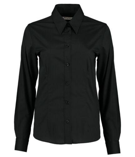 Sizes 8-20 Bargear Ladies Long Sleeve Shirt Kustom Kit Tailored Fit