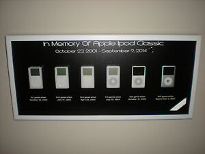 Rare-Collectors-Apple-Ipod-Classic-Framed-Art-1st-2nd-3rd-4th-5th-amp-6th-Picture