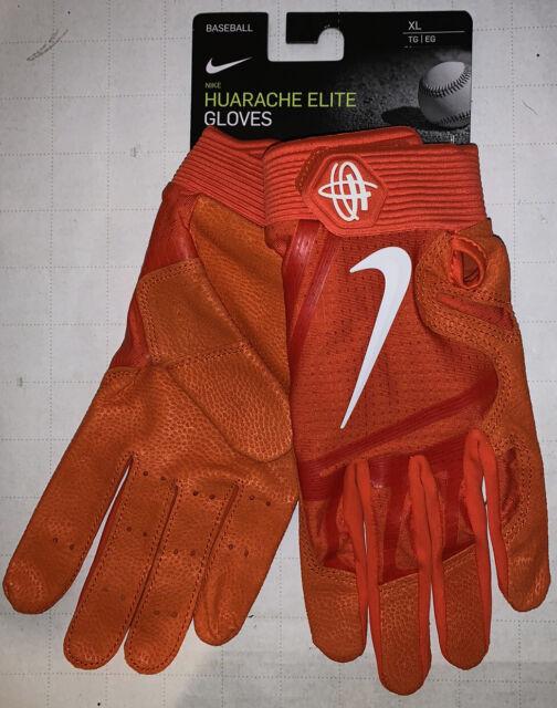 Nike Huarache Elite Baseball Batting Gloves Size XL Pgb642 844 Orange White
