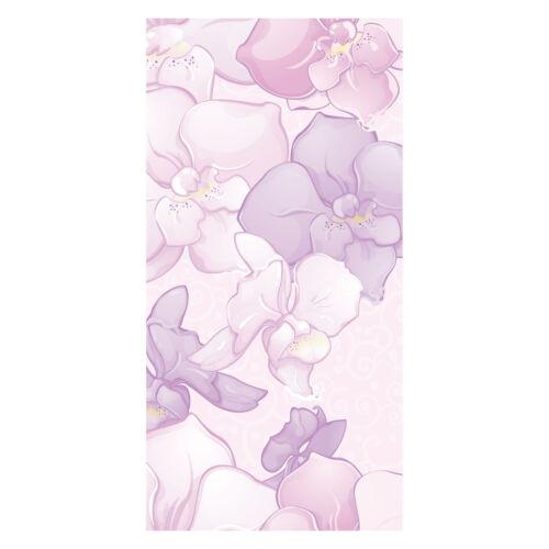 Wandbild Tür-Aufkleber Türbild Türtapete Elegantes Blumenmotiv Tapete