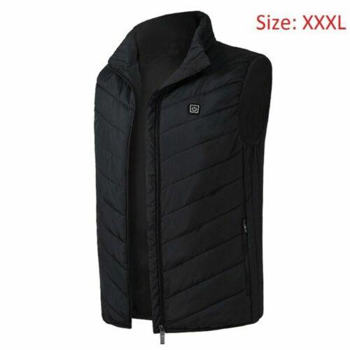 XXL Unisex Electric Heated Jacket Vest Coat USB Winter Warmer Heating Clothes US