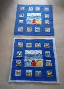 2 Unfinished pieced wall hangings seaside quilting cotton fabric - Dorchester, United Kingdom - 2 Unfinished pieced wall hangings seaside quilting cotton fabric - Dorchester, United Kingdom