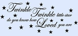 TWINKLE-TWINKLE-LITTLE-STAR-Children-039-s-Bedroom-Nursery-Mural-Wall-Art-Sticker