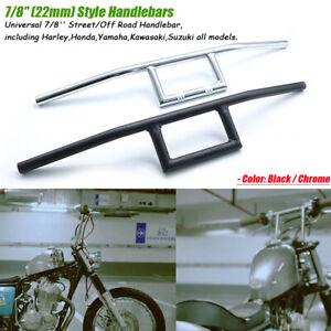 Moto-Guidon-Z-Handlrbar-7-8-034-22mm-pour-Honda-Yamaha-Suzuki-Kawasaki-Harley-Bobber