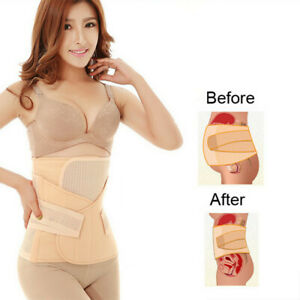 3-In1-Postpartum-Belt-Belly-Wrap-Body-Shaper-Support-Recovery-Girdle-After-Birth