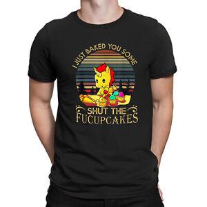 Unicorn-j-039-ai-cuit-vous-certains-ferme-la-fucupcakes-vintage-tee-shirt-homme-coton