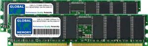 1GB (2 x 512MB) DDR 266/333/400MHz 184-PIN ECC REGISTERED RDIMM SERVER RAM KIT