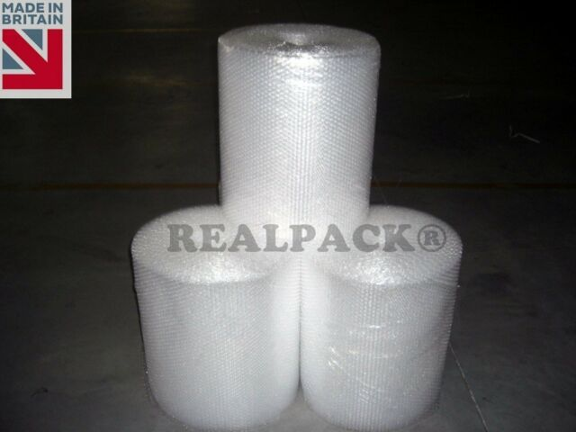 """REALPACK Bubble Wrap 300mm 12"""" x 100 M Small Bubble NEW QUALITY"""