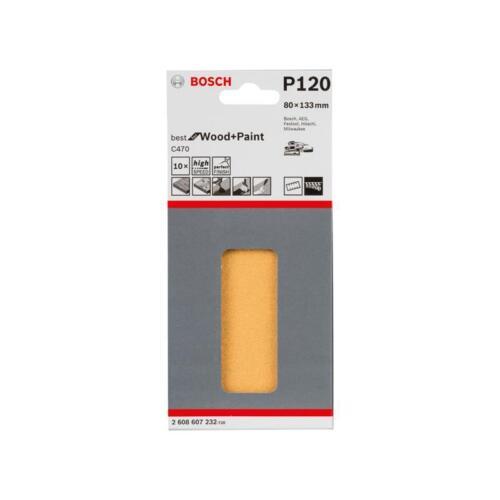 Bosch Schleifpapier C470 80x130mm K120 10er VE 2608607232