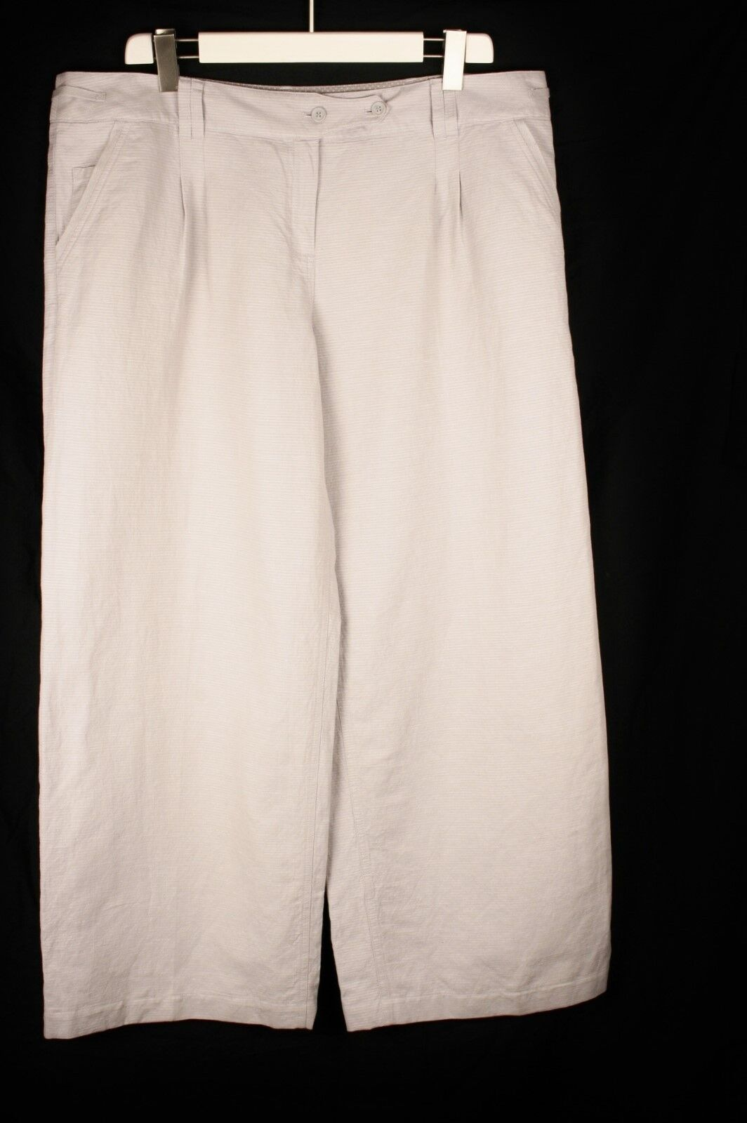 Poetry BNWT Cotton Linen Ribbed Trousers sz 22 S