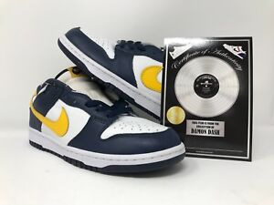 new style 5e84c 04c3f Image is loading Damon-Dash-ShoeZeum-Nike-Dunk-Mid-2004-White-