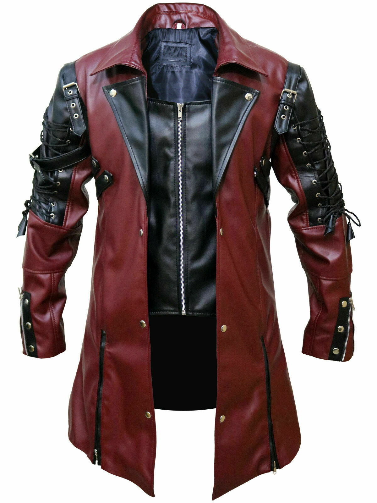 Mens Leather Jacket Stylish Unique Soft Real Leather Ma