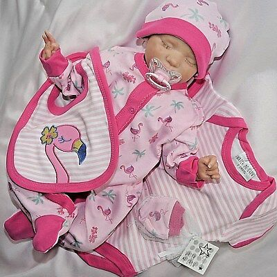 Girls' Clothing (newborn-5t) Kind-Hearted ❤neu 5 Tlg.baby Mädchen Strampler Geschenkset Flamingo Gr.56,62,68 Let Our Commodities Go To The World