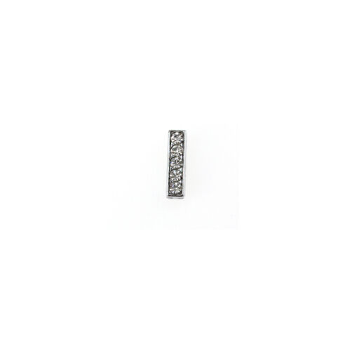 DIY Fashion Jewelry Silicone Leather Alloy Rhinestone Letters A-Z Beads Bracelet