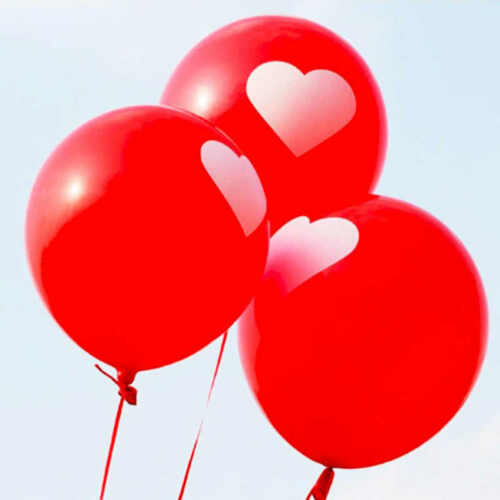 10-100 X LATEX PLAIN HEART BALLONS BALLOONS Quality Party Birthday Wedding