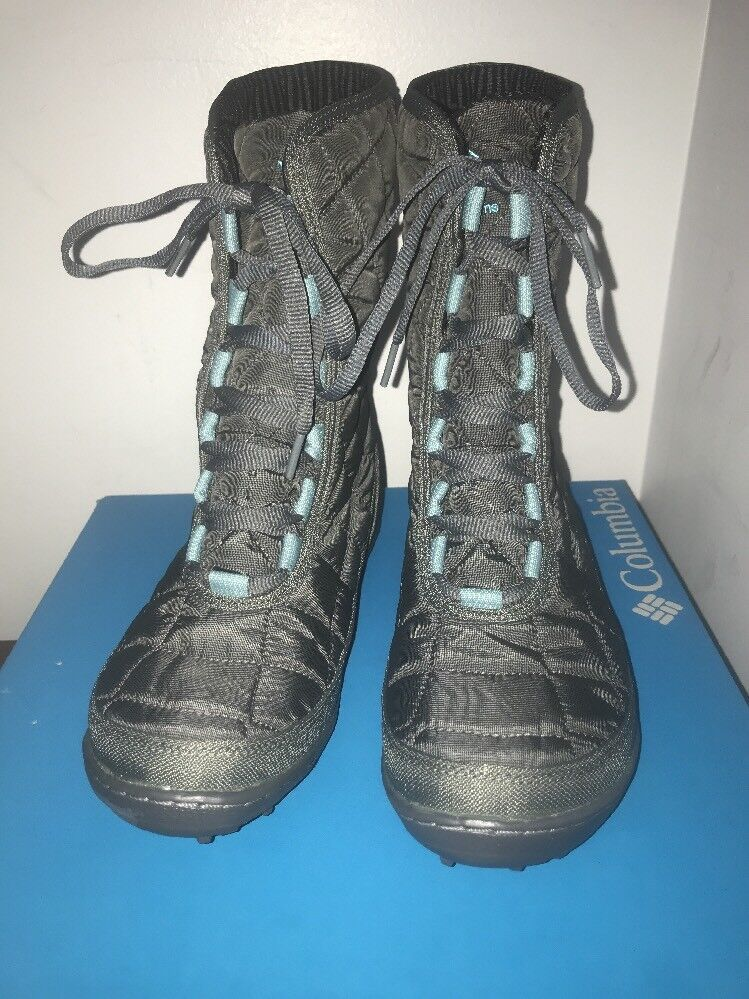 Nuevo En Caja Columbia Para Mujer Cristal Mediados de encaje Bobina Térmico botas De Invierno-gris