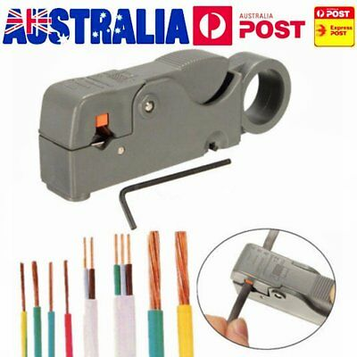 Electrical Wire Stripper Pen Rotary Coaxial Cable Pen Cutter Stripping Pliers AB