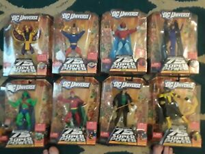 DC Universe 75th anniversary Mattel Lot of 8 action figures Wave 15 Validus BAF!