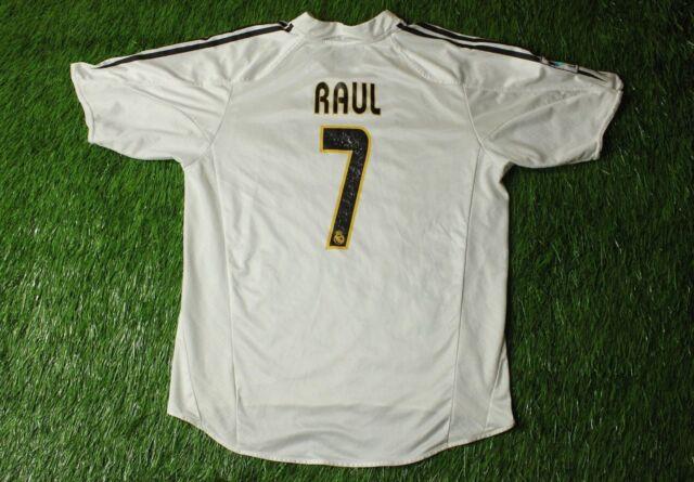 0b0f95b98 REAL MADRID SPAIN   7 RAUL 2004 2005 FOOTBALL SHIRT JERSEY HOME ADIDAS  ORIGINAL