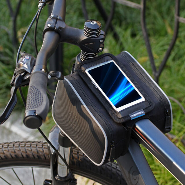 New ROSWHEEL Bicycle Bike Cycling Frame Pannier Front Top Tube Phone Bag Pouch