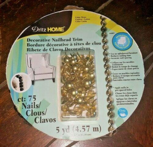 "Dritz Home 7//16/"" Decorative Nailhead Trim Choose From *6*  Colors//Design!"