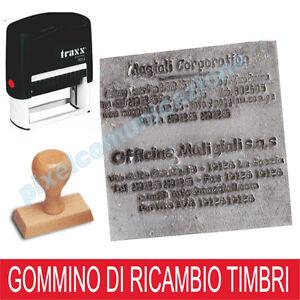 RESINA TIMBRO PERSONALIZZATO GOMMINO AUTOINCHIOSTRANTE MANUALE