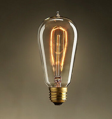 1 Vintage T58 Edison lighting filament antique light bulb e26 e27 old style Lamp