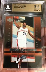 LEBRON-JAMES-rookie-Card-2003-04-UPPER-DECK-EXCLUSIVES-RC-BGS-9-5-Beckett-RC