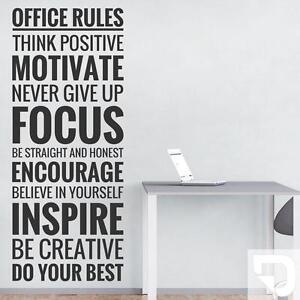Wandtattoo Office Rules Buroregeln Motivation Furs Buro Von