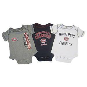 the latest d9ef7 a040b Details about New NHL Montreal Canadiens 3 Piece Creeper Set Size 12 18  Months Infant Baby