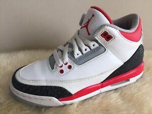 grossiste 60228 6f8d6 Details about Nike Air Jordan 3 Fire Red Gs Sz 4.5