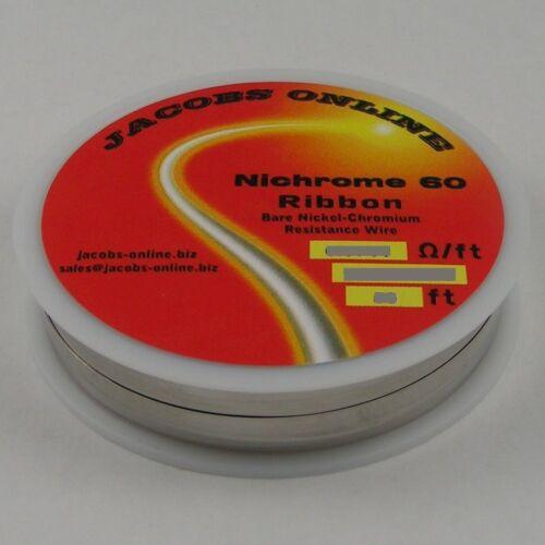"""10 ft spool Nichrome 60 ribbon flat 3.259 ohms//ft wire 1//16/"""" X 0.0031/"""""""