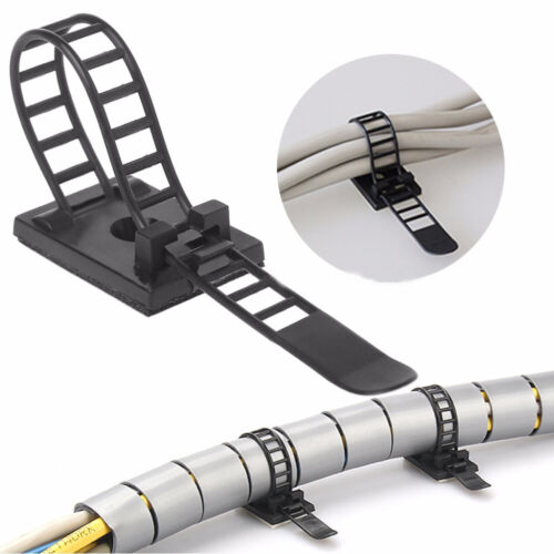 Self-adhesive Cable Clamp Fixer Holder Adjustable Cable Clip Wire Management