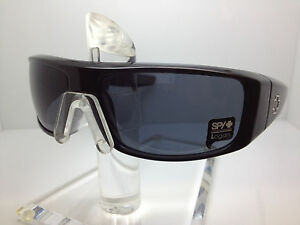 bc1908c118 Image is loading AUTHENTIC-SPY-SUNGLASSES-LOGAN-GLOSSY-BLACK-HAPPY-GRAY-