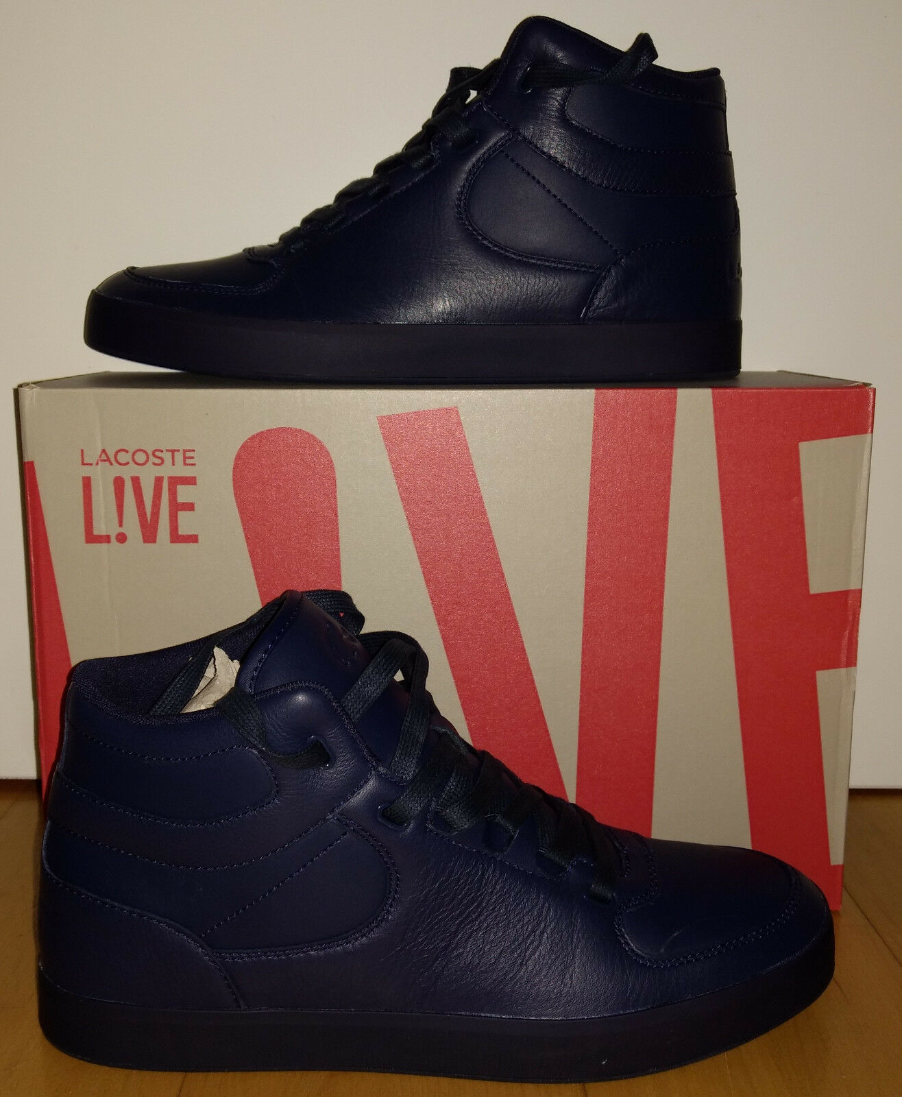 Lacoste Schuhe, Modell: Montantes Vedren, blau, EUR: 44, ungetragen, neu in OVP!