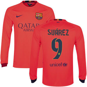 competitive price 00002 9cea7 Details about NIKE L. SUAREZ FC BARCELONA LONG SLEEVE AWAY JERSEY 2014/15  FOOTBALL LA LIGA