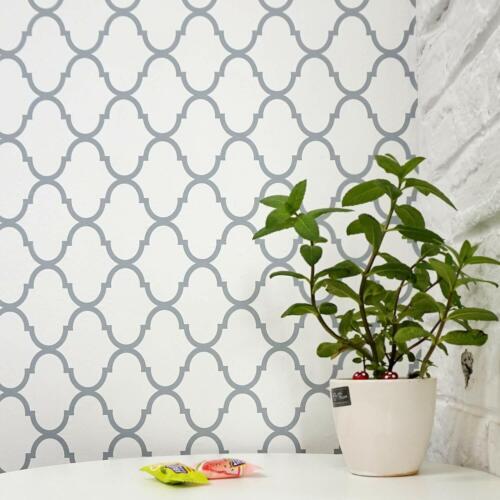 Gray Trellis Peel and Stick Wallpaper Self Adhesive Decor Wall Covering Modern