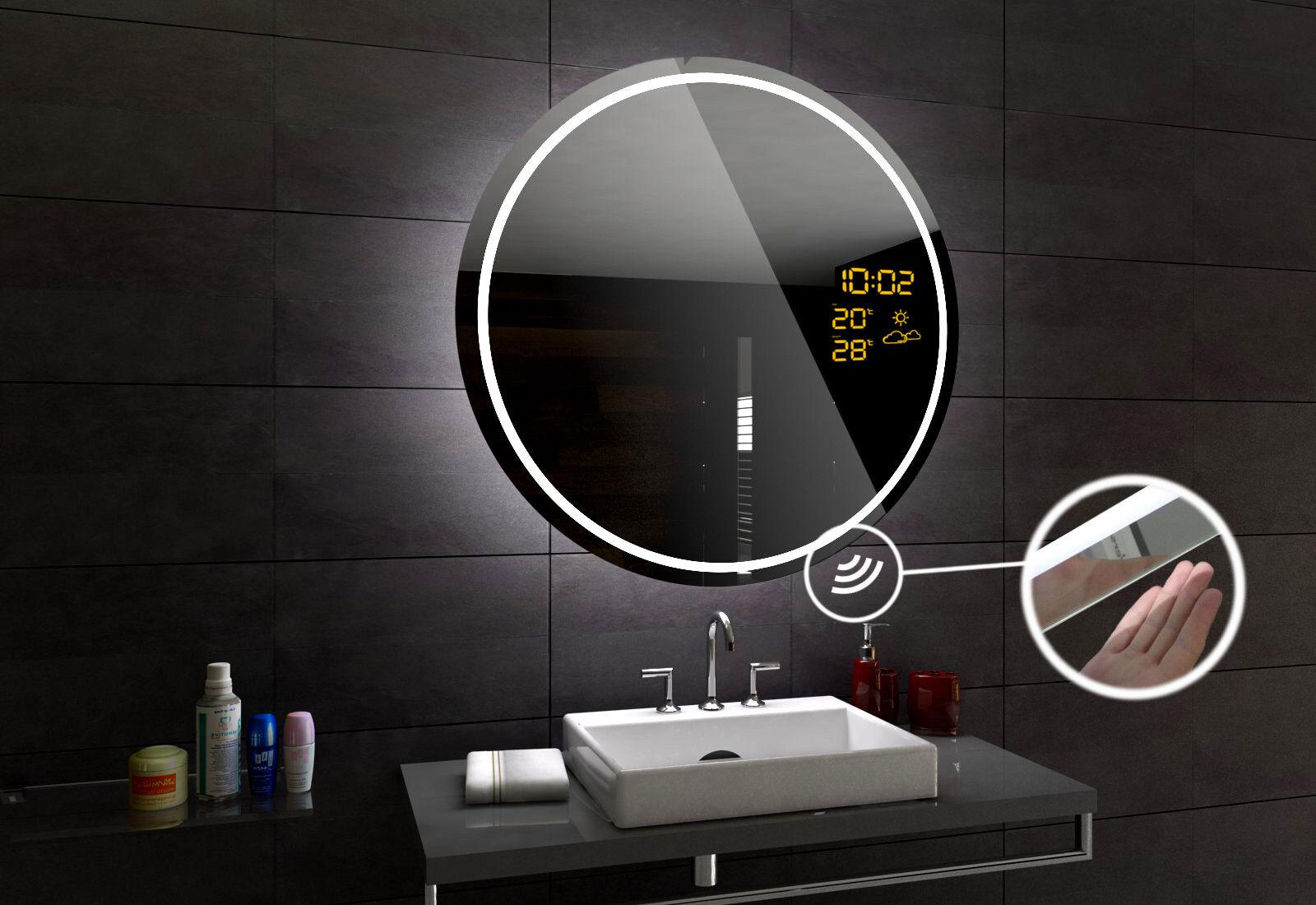 LONDON Miroir Salle Salle Salle De Bain Lumineux LED   Interrupteur Accessoires Miroir ROND 31cbd1