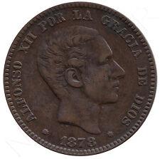 ESPAÑA 10 céntimos cobre 1878 ceca de  Barcelona - Rey de España Alfonso XII