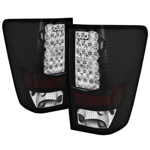 Compatible-Nissan-04-14-Titan-Negro-Led-Luces-Traseras-Freno-Lampara-Set-Pick-Up