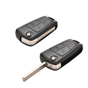 2 Button Remote Flip Key Fob Case For Vauxhall Opel Corsa Astra