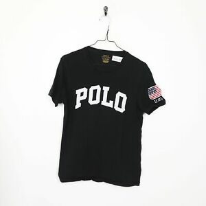 KID'S POLO RALPH LAUREN Big Logo T Shirt Tee Noir | Petit S