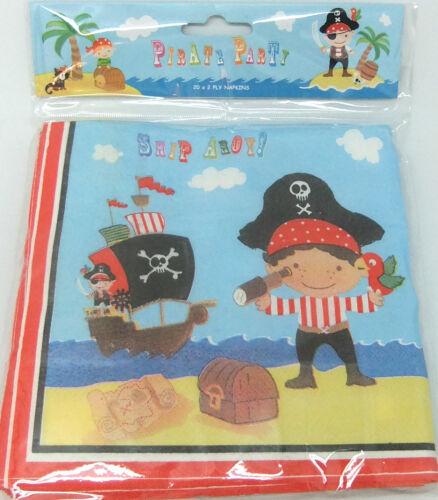 Parti pirate-déjeuner serviettes en papier x 20