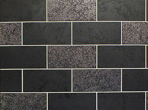 Kitchen Tiles On A Roll tile on roll brick wallpaper glitter black kitchen bathroom blown